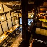 2階フロア&3階の隠れ家フロアは50~着席70/立食80名様貸切OK