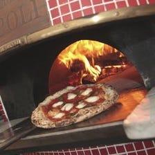 ◆ナポリの薪窯で焼くピッツァ