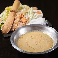 濃厚鶏白湯の水炊き鍋