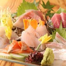 天然鮮魚刺身5種盛り合わせ