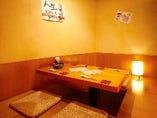 【個室】2〜5名様がご利用出来きる人気の掘りごたつ席