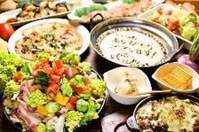 席時間無制限♪《飲放付き》豚肉と農園野菜の鉄板焼きコース(飲放LO120分制)
