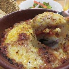 比内地鶏のボロネーゼとマッシュポテトのグラタン