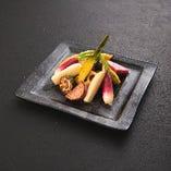 拘り野菜の鉄板焼き