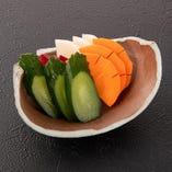 季節野菜の浅漬け