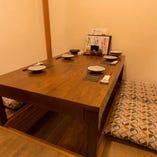 【完全個室】お座敷個室(2~4名様×2部屋・5~8名様×1部屋)