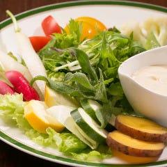 地野菜のミニバーニャカウダ