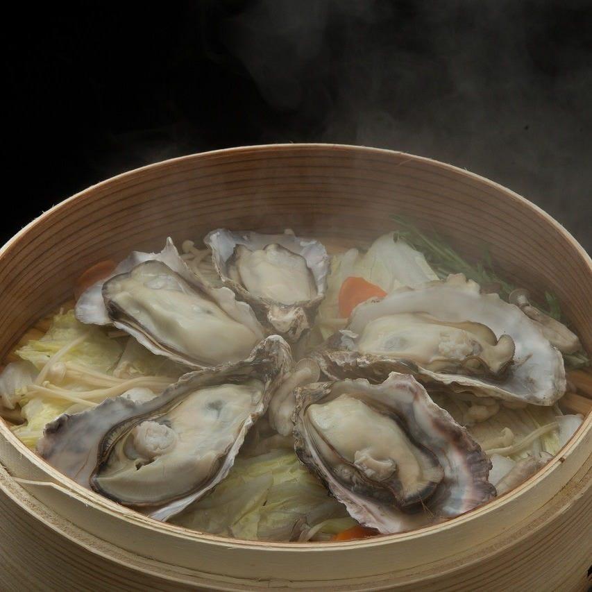 今、イチオシ『牡蠣のセイロ蒸し』