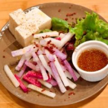 大根と豆腐のサラダ