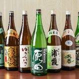 魚に合うものを厳選!常時30種以上の日本酒を全国各地から仕入れ