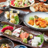 鮮魚を味わうボリューム満点の120分飲み放題付コースは3,500円~