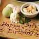 お誕生日などの記念日には、お店からスイーツサービス♪