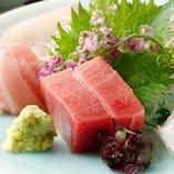 日本料理のが充実しているのも当店の魅力。 自慢は天然の鮮魚。