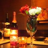 お誕生日会、記念日などのテーブル演出もリクエストにお応えします!