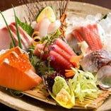 豊洲市場直送!旬のお魚を新鮮盛り合わせ!