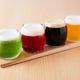 まずは4種飲み比べ.全8種類からお選びいただきます。