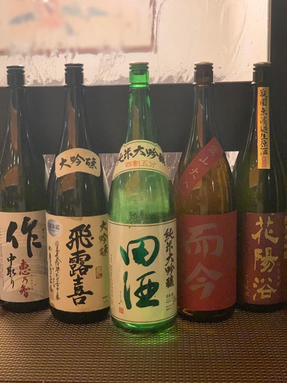 豊富な日本酒、焼酎