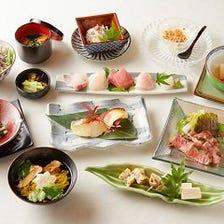 《懐石 楓》接待、法要、お祝い、色々な集まりごとに。旬の食材を使ったコース 10品 *要予約