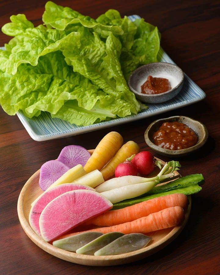 ◆全国から集めた国産野菜を提供!