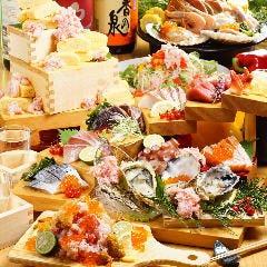 牡蠣・蟹・海老・帆立…海鮮たっぷり飲み放題付きコースは4000円~!
