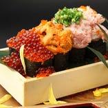 大人気の「豪華海宝のっけ寿司」は大満足のボリューム!