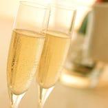 【お祝い・ご宴会に】スパークリングワイン(ボトル)をご用意いたします!