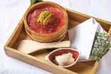 雲丹イクラとマグロの手巻き寿司