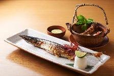 秋刀魚塩焼き 松茸土瓶蒸し