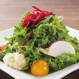 新鮮な野菜を使用したメニューが豊富にございます。