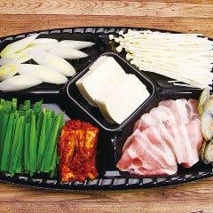 純豆腐チゲセット(スープ付き)
