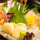 瀬戸内鮮魚のお刺身の盛り合わせ