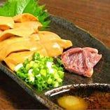 新鮮な鶏料理をお刺身と日本酒で、、
