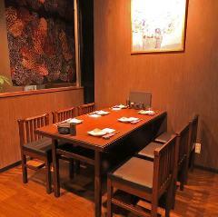 6名様まで可能なテーブル席