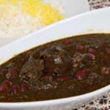 ゴルメザブジィセット(ライス、スープ付き)Gormesabzi Set
