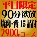 【通常¥4480相当が ⇒ クーポンで¥2900】 ≪12/20まで期間限定平日2900円コース≫