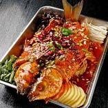 魚の特製焼き