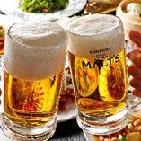 中華料理と相性抜群、ビール片手に乾杯♪