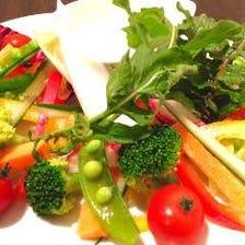 契約農家直送の有機野菜