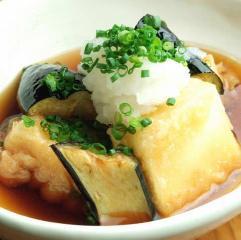 豆腐とナスの揚げだし