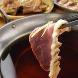 とても柔らかく旨味が濃厚な鴨と野菜のハリハリ鍋は必食です!