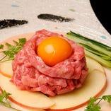 五反田初!保健所認定生肉使用!黒毛和牛ユッケ
