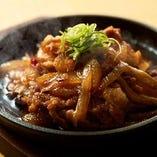 熱々鉄板生姜焼き