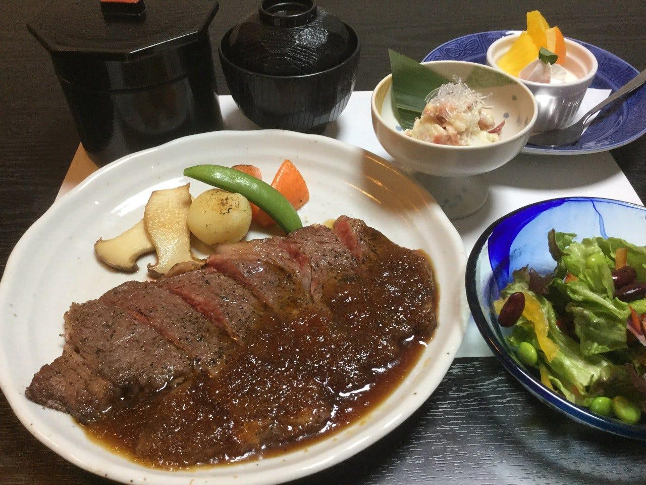 上州牛ロースステーキ膳(ランチ)