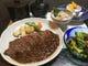ランチ・上州牛ステーキ膳3850円(税込) 食べ応え150g