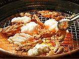 鶏セセリ、鶏カワ、カルビ、ホルモンなどの焼き物も充実!