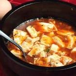 麻婆豆腐には絹ごし豆腐がまるごと1丁!