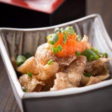カリカリ鶏皮ポン酢