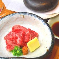 お昼にも本格日本料理を…