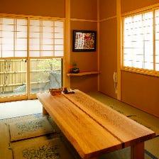 落ち着いた和風の個室