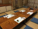 個室でコースでアクリルパネル。4400円コースの始まり、全8品
